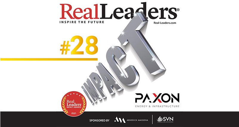 Paxon Wins 2021 Impact Award by REAL LEADERS